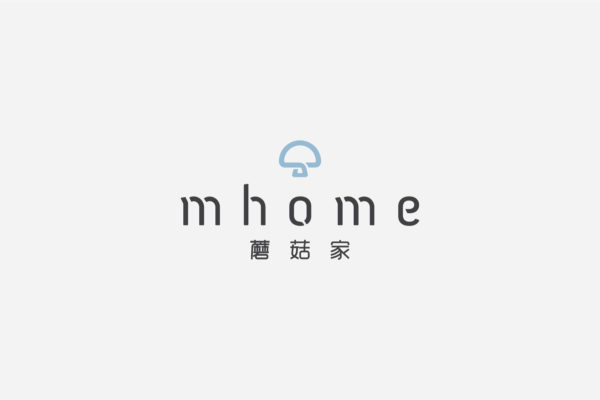 Design and Digital Marketing - China mhome Brand Identity - Logo in Blue - Leow Hou Teng