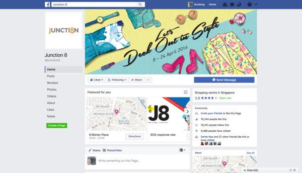 Design and Digital Marketing - Junction 8 Fashion Week 2016 - Facebook - Leow Hou Teng