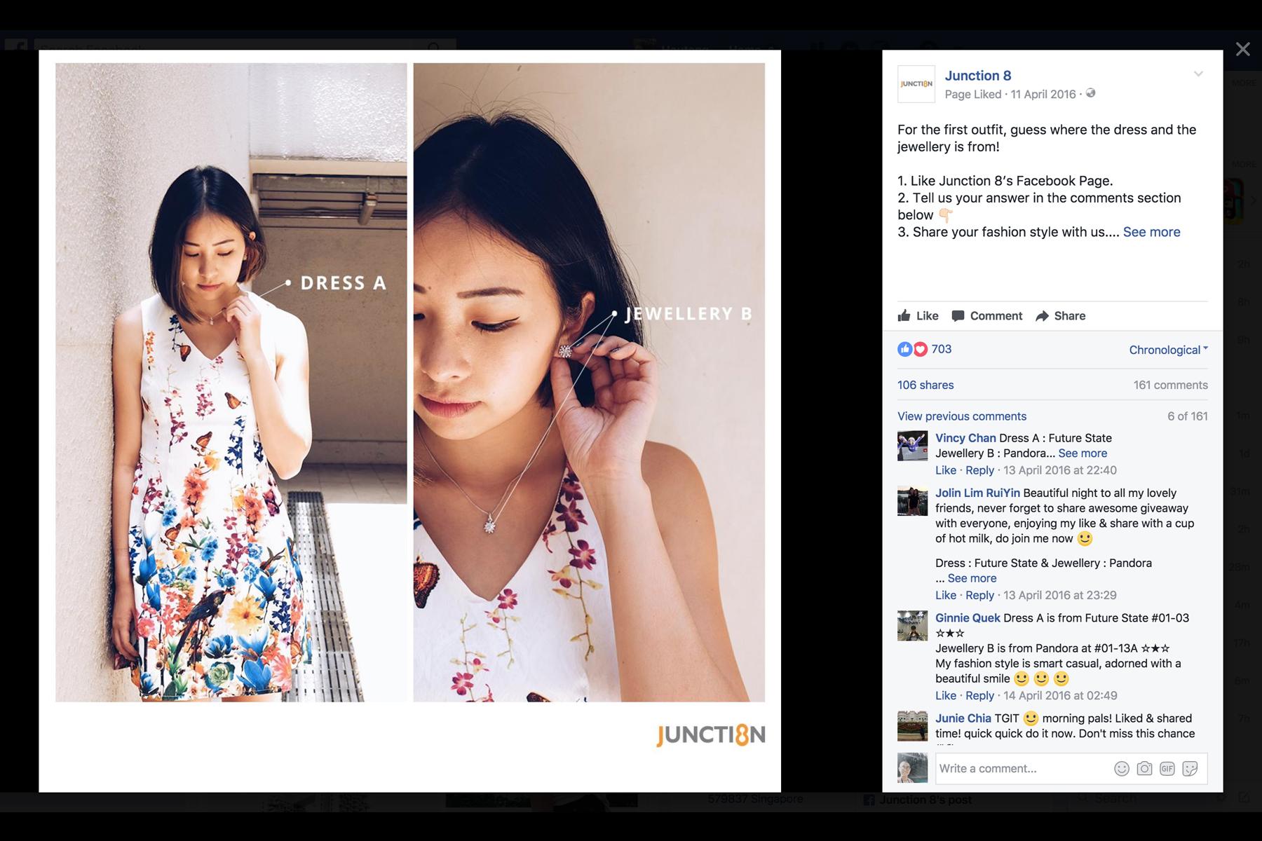 Design and Digital Marketing - Junction 8 Fashion Week 2016 - Facebook Post 1 - Leow Hou Teng