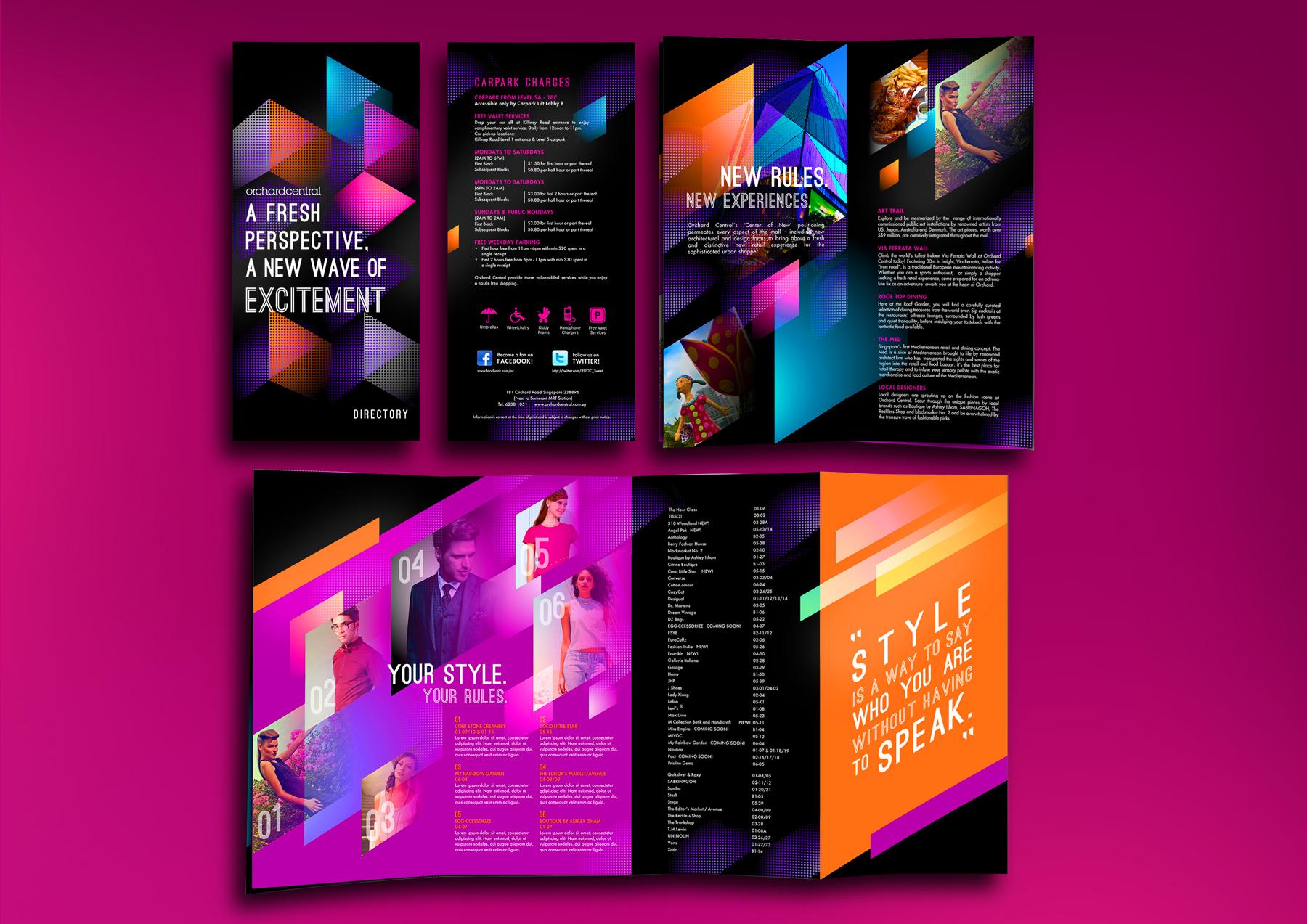 Design and Digital Marketing - Orchard Central Directory Brochure 1 Open- Leow Hou Teng