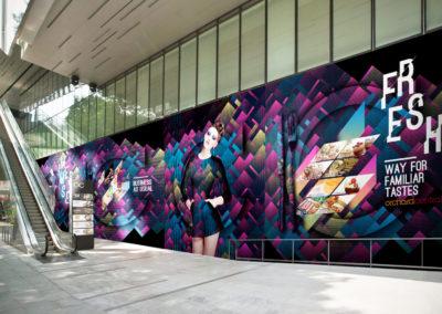 Orchard Central Hoarding Design - Side Entrance