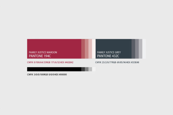 Leow HouTeng Design Portfolio - Family Justice Courts Corporate Identity - Corporate Colours
