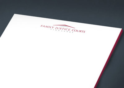 The Family Justice Courts of Singapore Corporate Identity Design - Close Up of Letterhead