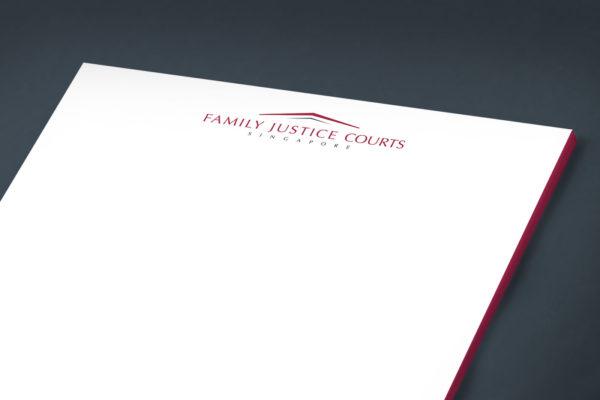 Leow HouTeng Design Portfolio - Family Justice Courts Corporate Identity - Letter Head