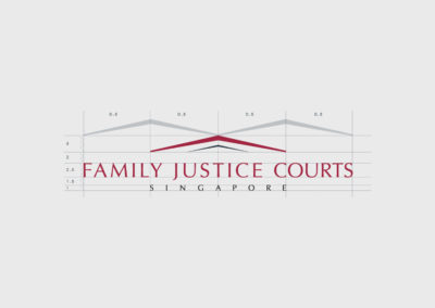 The Family Justice Courts of Singapore Corporate Identity Design - Logo Construction
