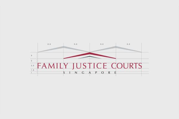 Leow HouTeng Design Portfolio - Family Justice Courts Corporate Identity - Logo Construction