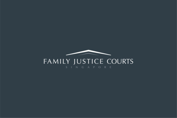 Leow HouTeng Design Portfolio - Family Justice Courts Corporate Identity - Logo Inverse Grey