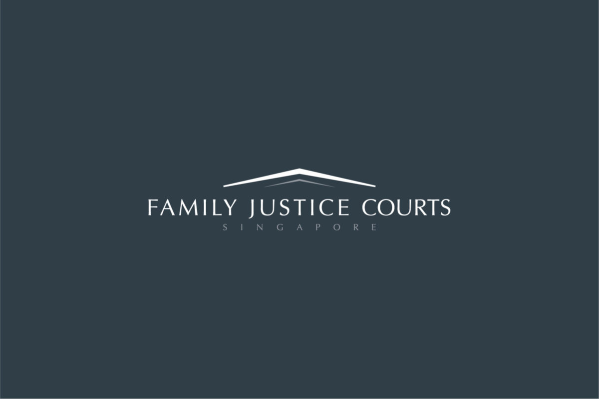 The Family Justice Courts of Singapore – Inverse Logo on Grey