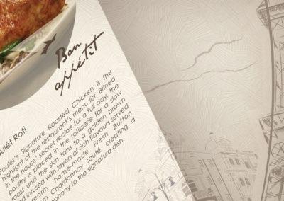 Poulet Restaurant Menu Design – Closeup of Menu Pattern