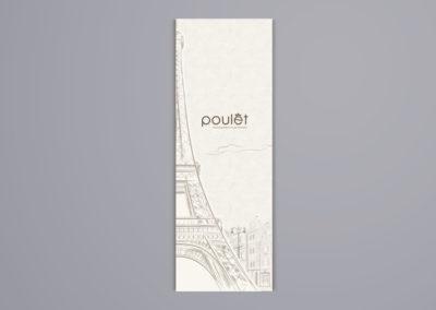 Poulet Restaurant Menu Design – Alternative Menu Front Cover