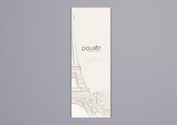 Leow HouTeng Design Portfolio - Poulet Restaurant Menu - Design B 1