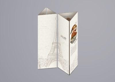Poulet Restaurant Menu Design – Alternative Standing Menu