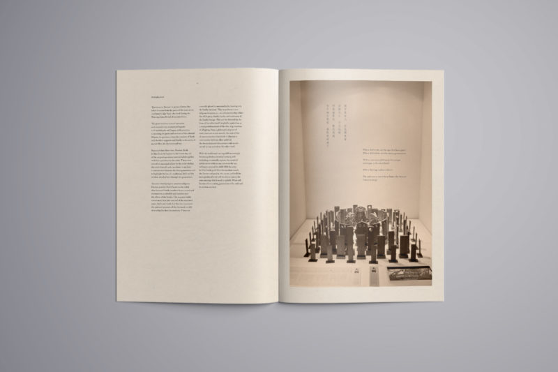 Leow HouTeng Design Portfolio - Questions to Heaven - Report Booklet Open