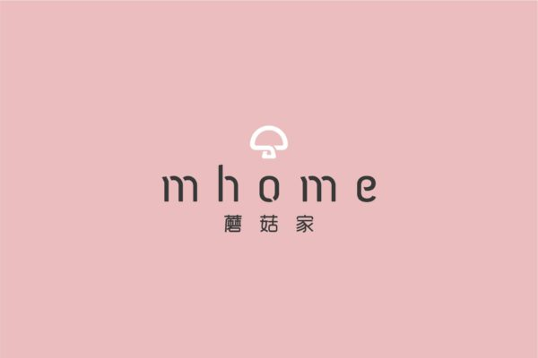 Design and Digital Marketing - China mhome Brand Identity - Leow Hou Teng - mhome Logo Pink