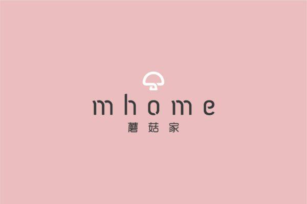 Design and Digital Marketing - China mhome Brand Identity - Leow Hou Teng - mhome Logo Pink