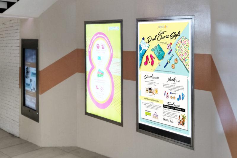 Design and Digital Marketing - Junction 8 Fashion Week 2016 - Leow Hou Teng - Entrance Lightbox