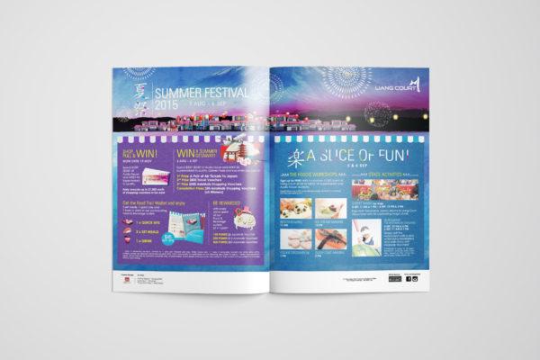 Design and Digital Marketing Portfolio - Liang Court Summer Festival 2015 - 8Days Advertisement