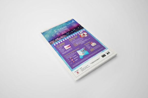 Design and Digital Marketing Portfolio - Liang Court Summer Festival 2015 - Today Newspaper Advertisement 2