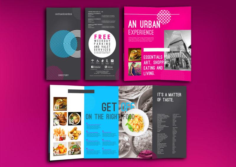 Design and Digital Marketing - Orchard Central Directory Brochure 2 Open- Leow Hou Teng