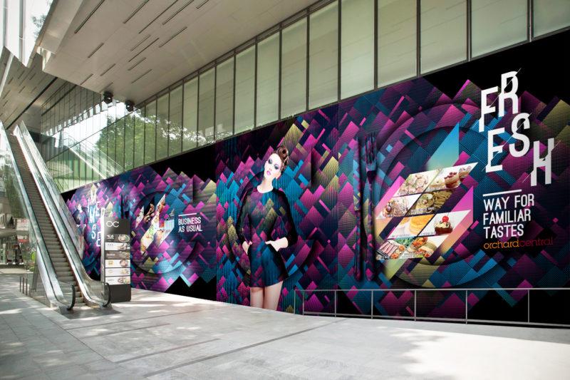 Design and Digital Marketing - Orchard Central Hoarding - Side Entrance - Leow Hou Teng