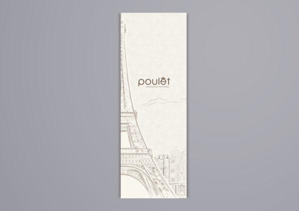 Design and Digital Marketing Portfolio - Poulet Restaurant Menu - Design B 1 - Leow Hou Teng
