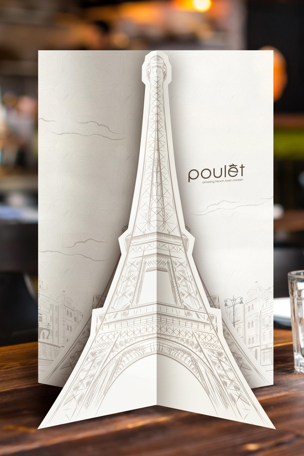 Design and Digital Marketing Portfolio - Poulet Restaurant Menu - Vertical - Leow Hou Teng