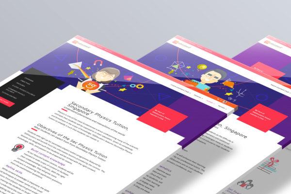 Design and Digital Marketing Portfolio - SGEducators Tuition Hub - Perspective Stack Closeup