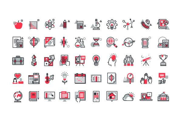 Design and Digital Marketing Portfolio - SGEducators Tuition Portal Development - SGEducators Icon Set