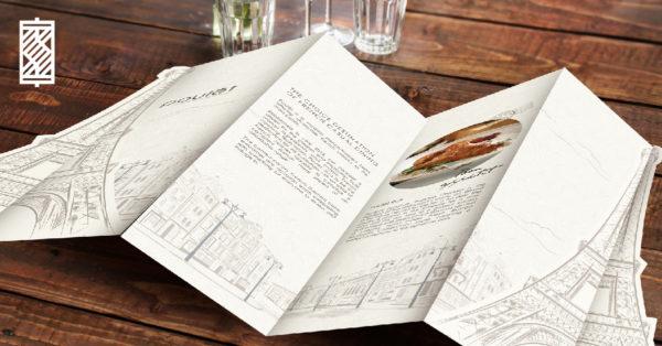 Design and Digital Marketing Portfolio - SM - Poulet Restaurant Menu Design Pitch