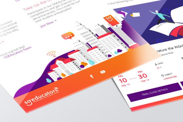 Design and Digital Marketing Portfolio - SGEducators Tuition Hub - Email Mockup Closeup