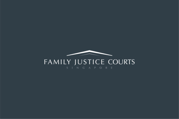Leow HouTeng Design Portfolio - Family Justice Courts Corporate Identity - Logo Inverse Grey