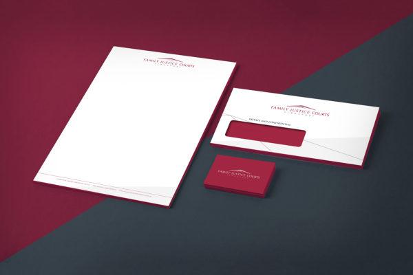 Leow HouTeng Design Portfolio - Family Justice Courts Corporate Identity - Stationery Set