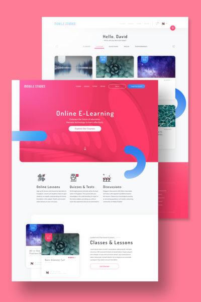Design Portfolio Leow Hou Teng - Mobile Studies Learning Management System - Vertical Feature Image