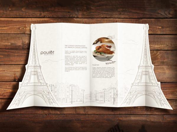 Design and Digital Marketing Portfolio - Poulet Restaurant Menu - Open Front 43- Leow Hou Teng
