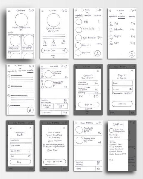 Chefbox App Mobile - Low Fidelity Prototype - Leowhouteng