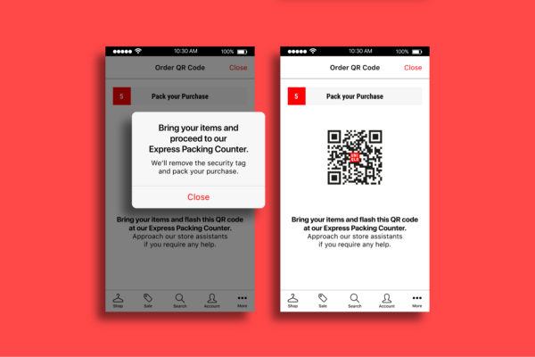 Uniqlo Mobile Self-Checkout Mobile App - Instructions for Self Checkout - Leowhouteng
