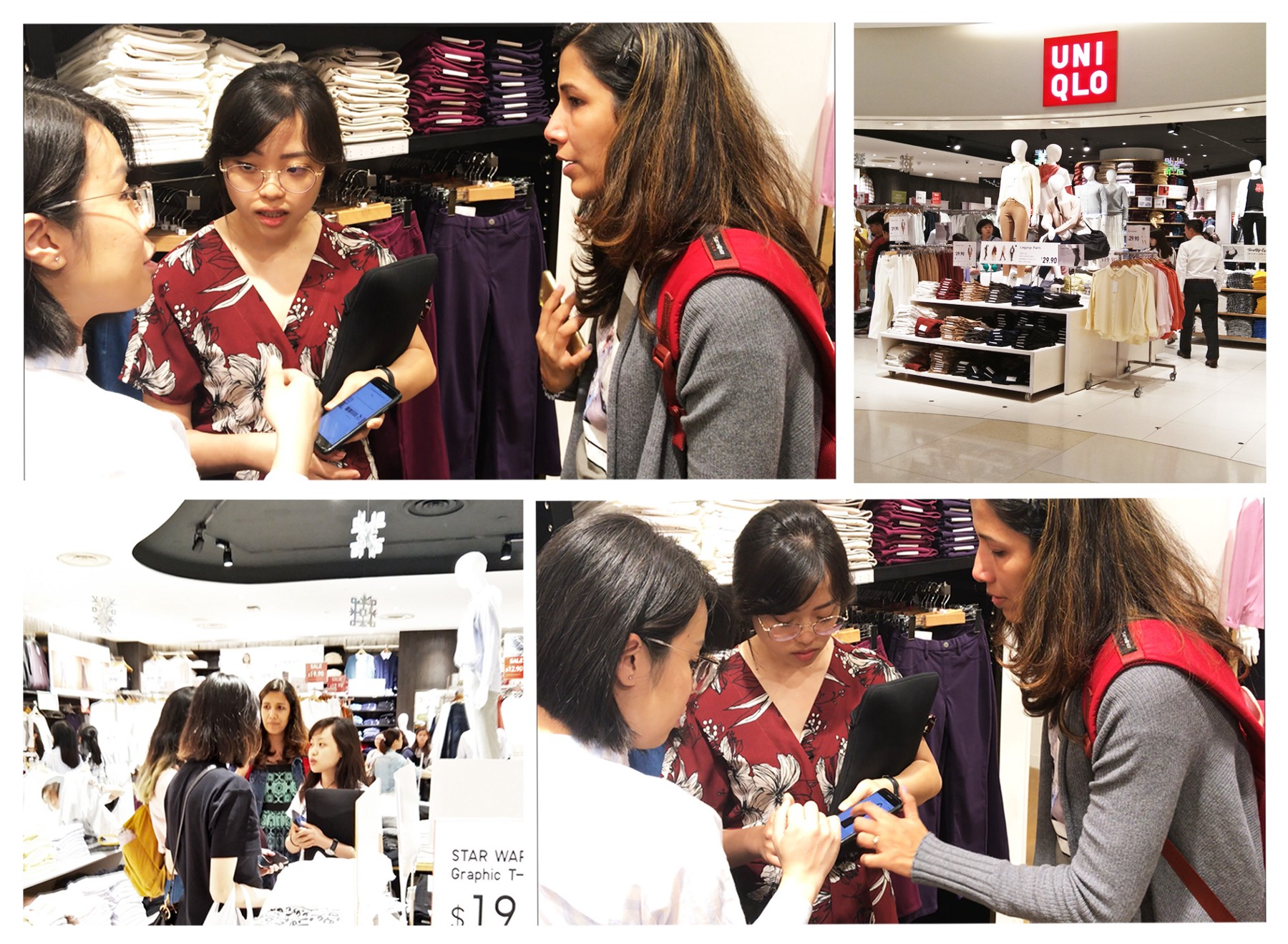 Uniqlo Self-Checkout Mobile App Redesign - Contextual Inquiry - Leowhouteng